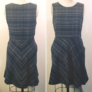 Banana Republic plaid tweed dress